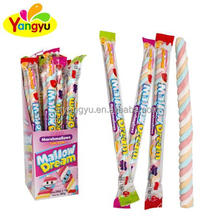 Halal colored twist Long Stick Marshmallow with creative package