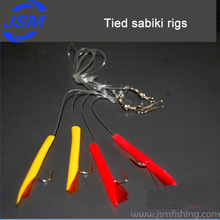 Wholesale custom made krystal flash fish skin sabiki rigs for fishing