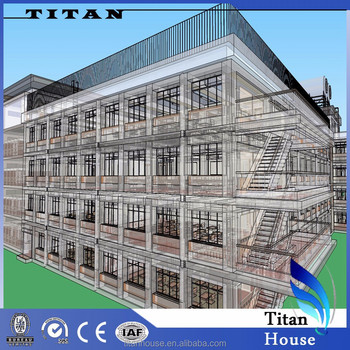 Low cost galvanized steel frame kit school building for Low cost home building kits