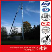 Q235 Antenna Tower Telecommunication Steel Monopole Tower