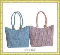 2013 fashion colorful chevron ladies' canvas tote bag
