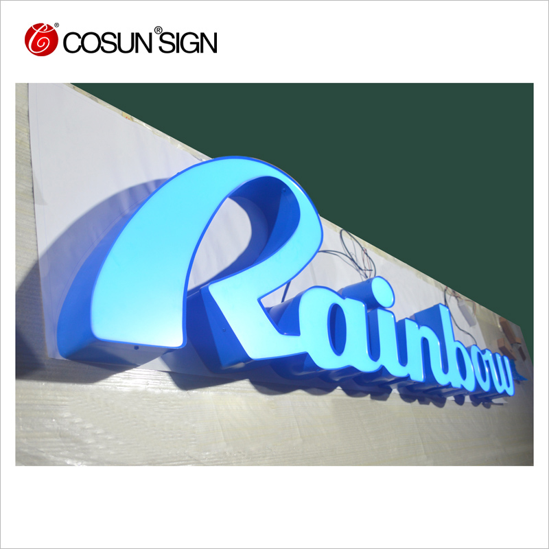 Outdoor wholesale advertising 3d acrylic letter shop name board designs