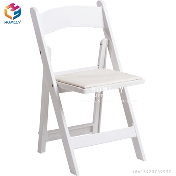 Wholesale Padded Resin Folding Chair PP Wedding White Resin Folding Chair