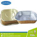 airline covered aluminium foil food tray with ISO FDA ISO TUV certificate