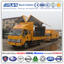 2018 Foton wing opening type box van 4*2 diesel wing opening truck van Wingspan Light Cargo Truck for sale
