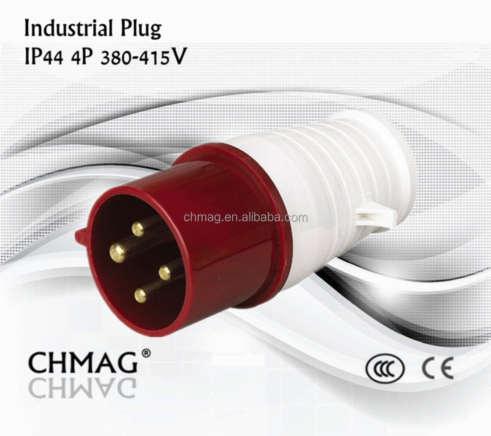 Chmag waterproof 16A 32A 380-415 4Pin industrial plug 014 024