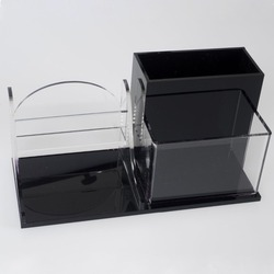Acrylic Business Card Holder, Acrylic Desk Organizer, Pen, Pencils, Paperclips, Cell Phone, Glasses Holder