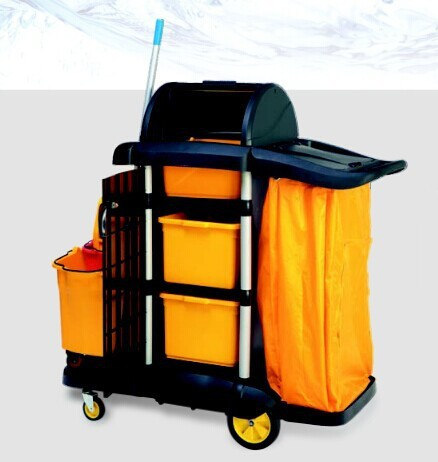 housekeeping carts service trolley hospital cleaning cart