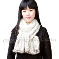 CX-S-73 Wholesale Fashion Genuine Knitted Mink Fur Snood Scarf Made In China