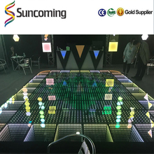 Sunfrom HOT sell Tempered glass covered China changing acrylic black and white dance club floor