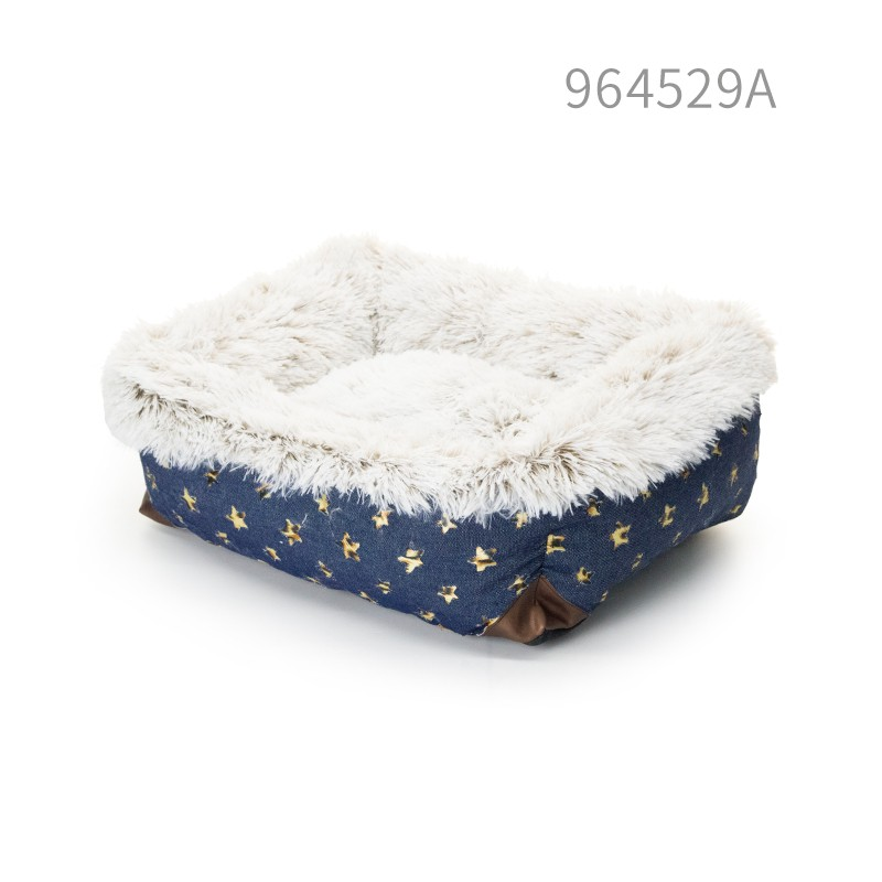 pet products comfirtable soft leisure design handmade dog bed