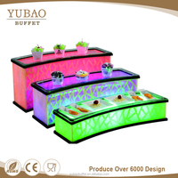 Used home bar furniture rectangle luxury bar table, wedding led light bar table, bar table led light furniture