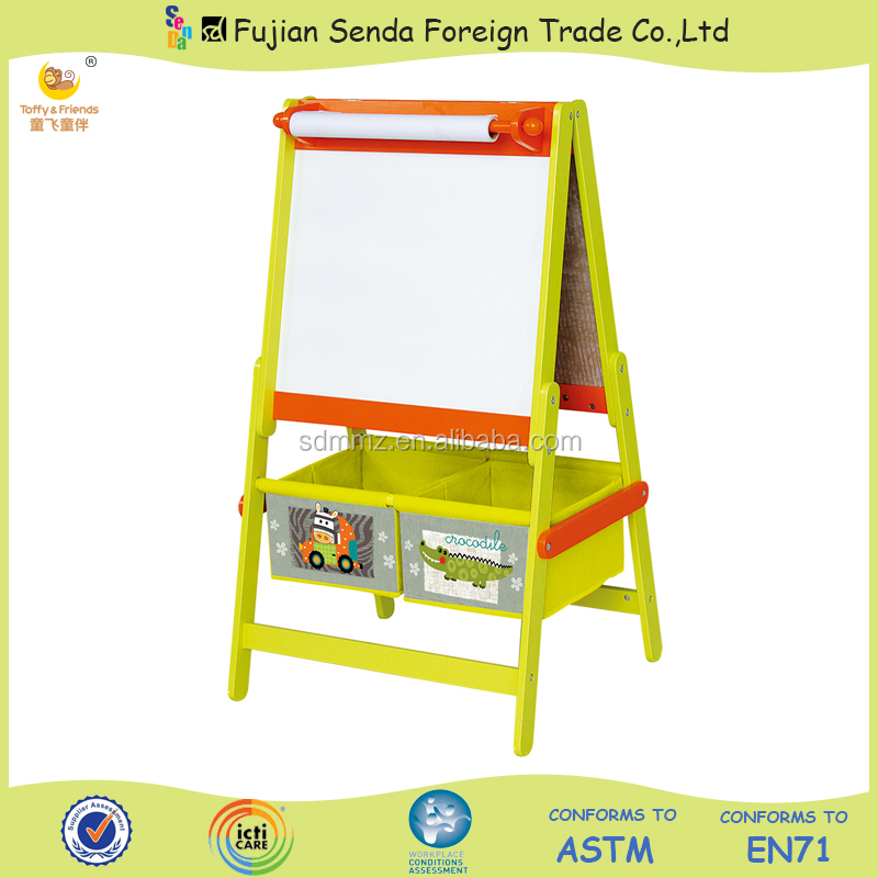 Wooden Kid Standing Easel Colourful Easel