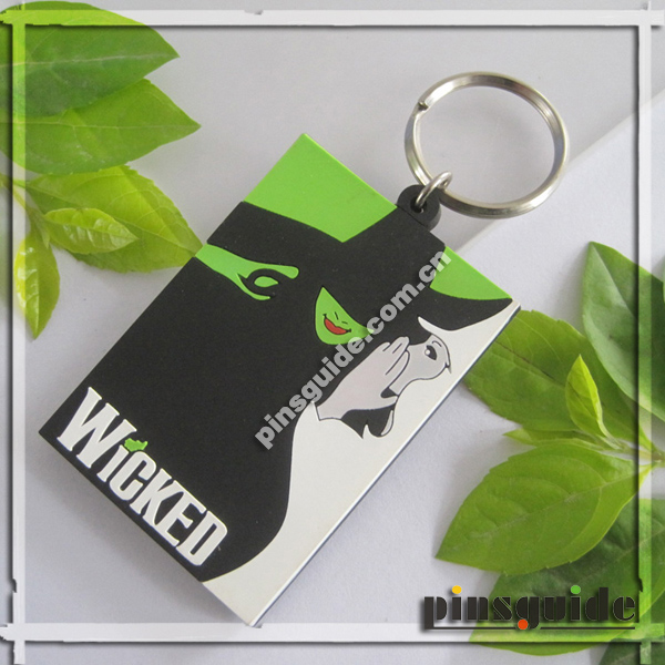 Promotion 2014 Handmade Soft PVC Wicked Keychain For Cartoon Advertising