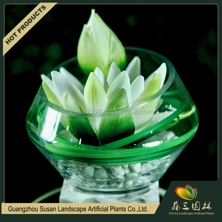 Guangzhou factory wholesale PU fake real touch white lotus artificial flower