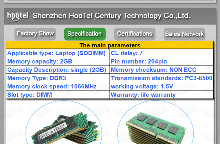 ddr3 1066 1333 1600 memory laptop original chip to all the motherboard ddr3 2gb 1333mhz