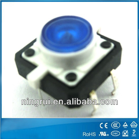 6*6 12*12 2pin 4pin 6pin ip67 waterproof push on push off normally closed tact swith with led smd