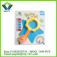 Plastic infant sunflower sound maker toy baby rattle
