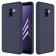 For Galaxy A8 Case Cover, Full Body Protection Liquid Silicone Gel Rubber Case for Samsung Galaxy A8