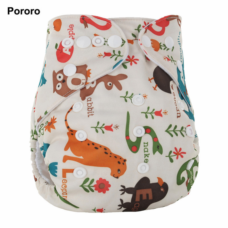 New Design Healthy Reusable Nappy Cartoon printed Breathable Baby Cloth Diaper Stay Dry Suede Cloth Washable Nappy Factory