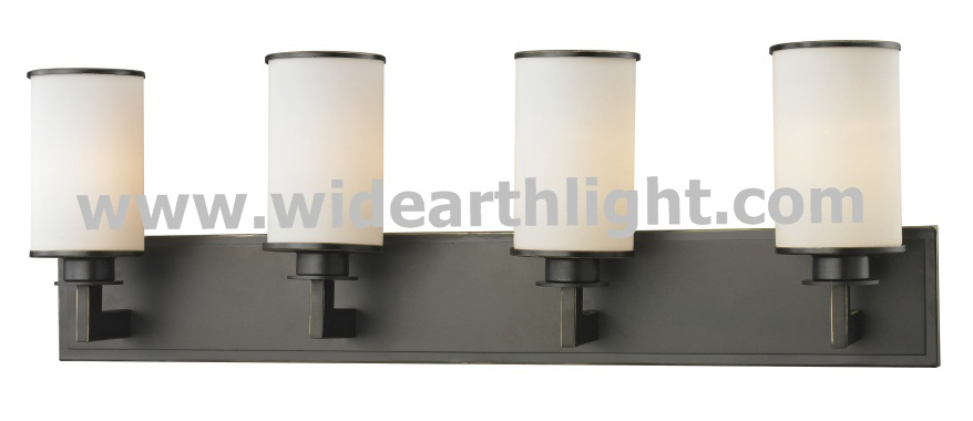 UL CUL Listed Black Finish 4 Light Glass Shade Hotel Bathroom Vanity Fixture W50282