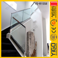 how to install stair rail \ glass panels for stairs