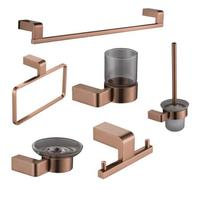 Rose Gold Plated High Quality Aluminum Bathroom Accessories Set