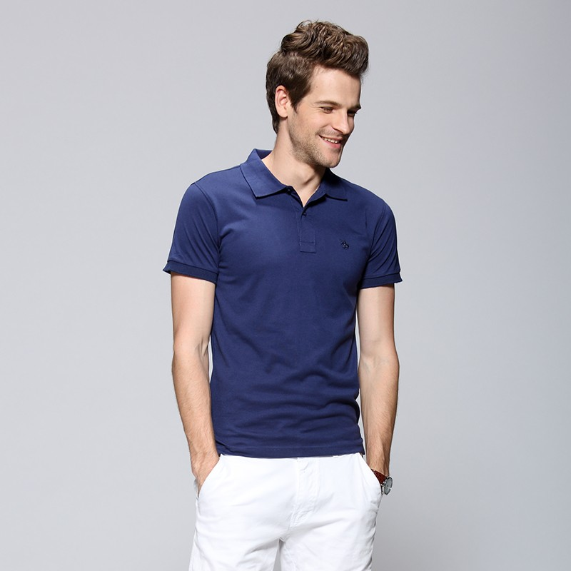 Fast delivery wholesale embroidery polo shirt men striped for Cheap polo shirts embroidered