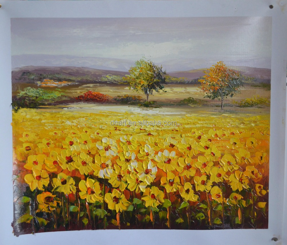 2015 Latest Sunflower Painting On Canvas For Living Room For Holiday Gift Wholesale