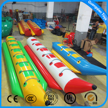 Guangqian Summer Pool Games Toy Inflatable Banana Water Boat For Sale