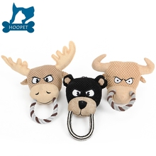 Wholesale Cute animal squeaky plush dog toys