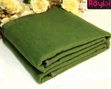 hot sale woven brushed polyester and wool blending army green disaster relief blankets