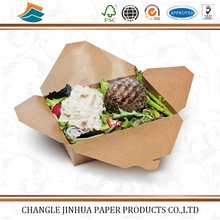 Manufacture sale custom paper take away box for fast food packing