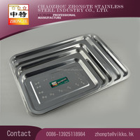 SS201 Stainless steel 2cm depth 0.3mm thickness food plate or serving dish