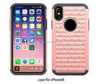 PC shockproof case for iPhone 8, various colors