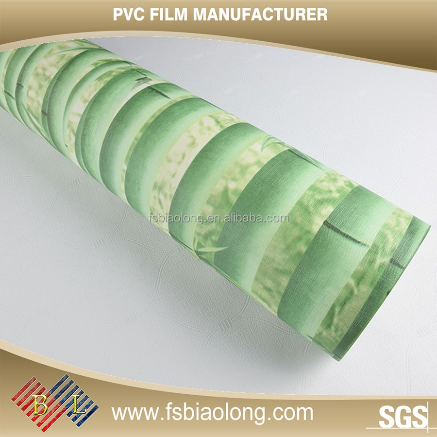 Welcome your own design pvc film faced gypsum ceiling board for covering furniture