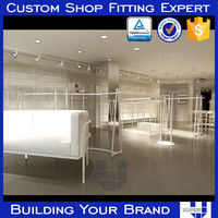 designer clothes rack stainless steel retail shop fittings