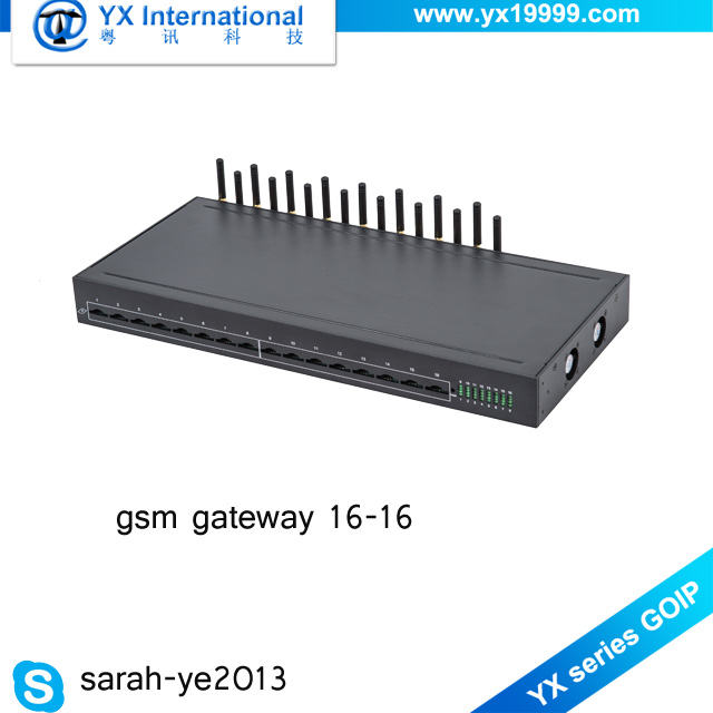 Human behavior voip gateway sip registration 16 port 4G Lte goip 16/16 gsm gateway
