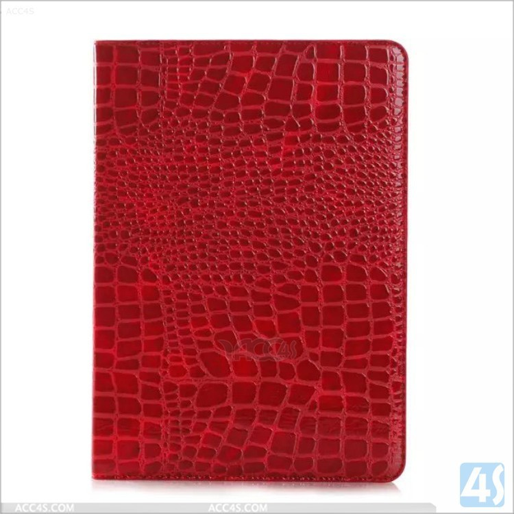 crocodile lines PU leather case for ipad air 2 with retail package