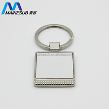 cheap mini keychain digital photo frame blank sulimation heat press metal keychain