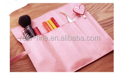 Hot Sale Creative Stationery Vintage Pencil Case Cosmetic PU Leather Pen Pouch Bag Make Up Brush Bag