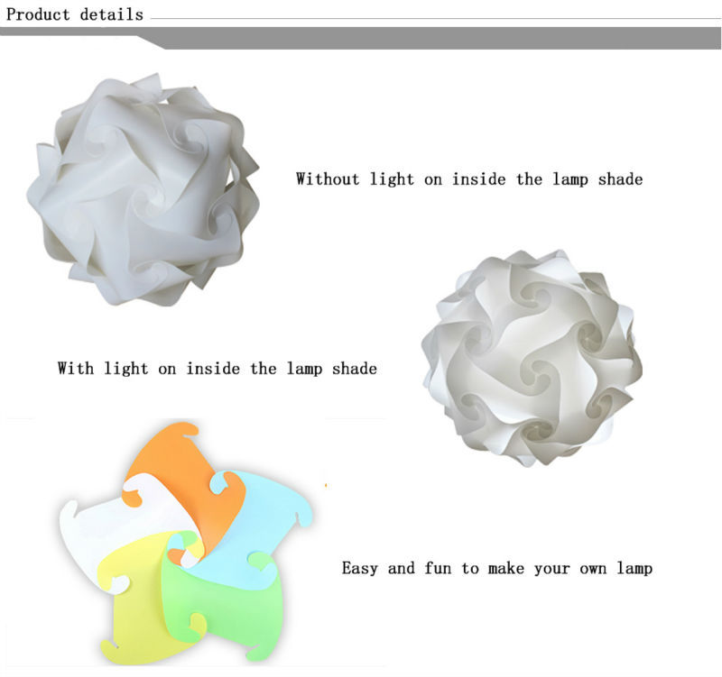 Modern lamp Direct factory sale plastic lamp IQ jigsaw puzzle lamp