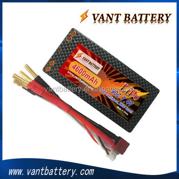 shorty battery 7.4V 90C 4600mah rc lipo battery for rc car with good quality and cheap price