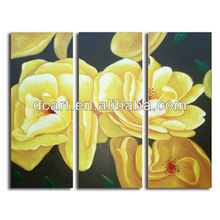 hand painted canvas picture flower