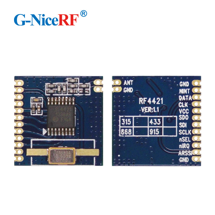 G-NiceRF Si4421 ISM Band 433MHz High-performance FSK RF Module RF4421 Same Function as RFM12B