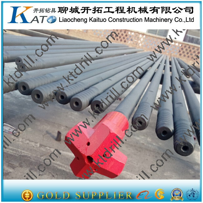 R38 thread drill rod for blast furnace