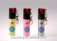 25 ml keychain pepper spray, tear gas spray, chili spray