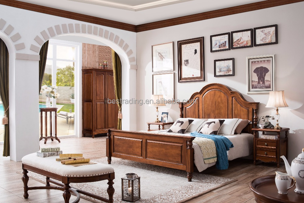 American style bedroom furniture king size bed classic home furniture