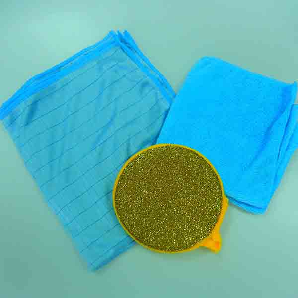 Customers over 50 countries Household articles green cleaning cloth
