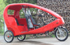 JOBO OEM Touring Velo Taxi Three Wheel Tricycle for Advertising, Electric Pedicab Rickshaw